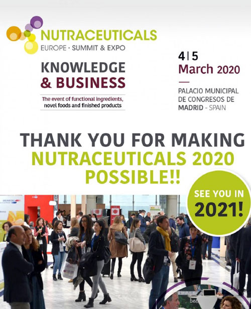 European Natural Additives en Nutraceuticals Europe – Summit & Expo